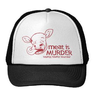 Meat is Murder Trucker Hats