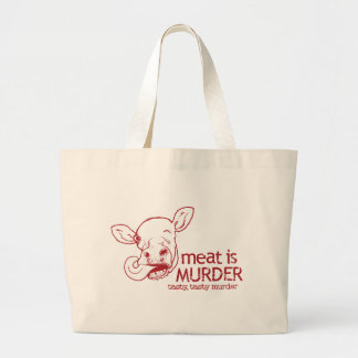 Meat is Murder Large Tote Bag