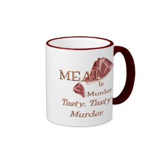 Meat Is Murder Coffee Mugs