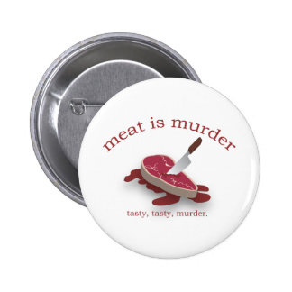 Meat is Murder Pinback Button