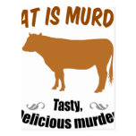 Meat is Murder! Post Card