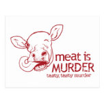 Meat is Murder Post Cards