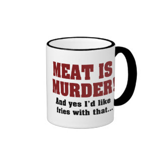 Meat Is Murder Ringer Mug