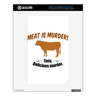Meat is Murder! Decals For The NOOK Color