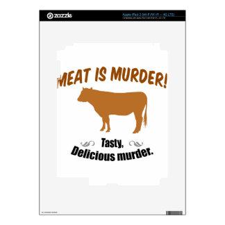Meat is Murder! iPad 3 Skin