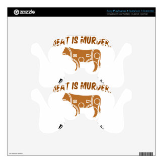 Meat is Murder! PS3 Controller Decals