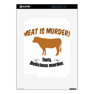 Meat is Murder! Decal For iPad 2