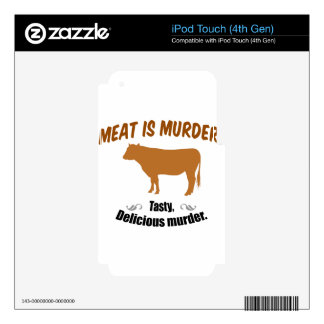 Meat is Murder! Decals For iPod Touch 4G