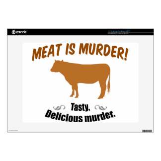 Meat is Murder! Decals For Laptops