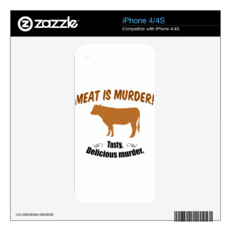 Meat is Murder! iPhone 4 Skin