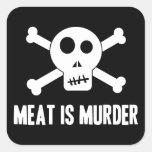 Meat is Murder Stickers Stickers