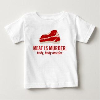Meat is Murder, Tasty Murder Baby T-Shirt