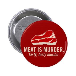 Meat is Murder Tasty Murder Buttons
