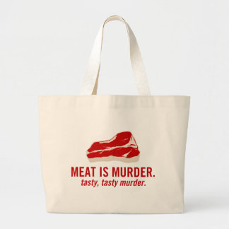 Meat is Murder, Tasty Murder Jumbo Tote Bag