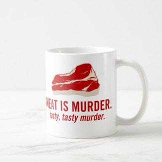 Meat is Murder, Tasty Murder Classic White Coffee Mug