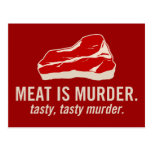 Meat is Murder, Tasty Murder Post Card