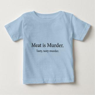 Meat Is Murder Tasty Tasty Murder Baby T-Shirt