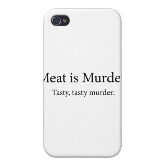 Meat Is Murder Tasty Tasty Murder iPhone 4/4S Cover