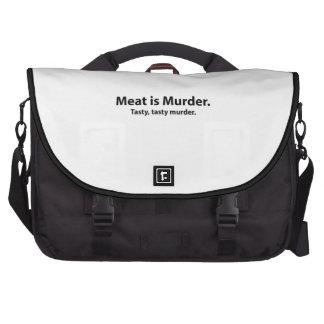 Meat is Murder Tasty tasty murder Bag For Laptop