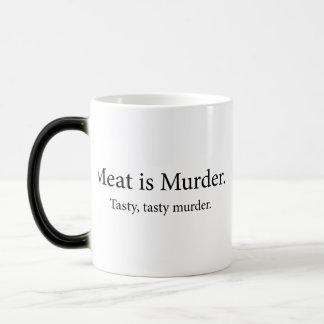 Meat Is Murder Tasty Tasty Murder Magic Mug