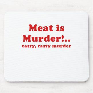 Meat is Murder Tasty Tasty Murder Mouse Pad