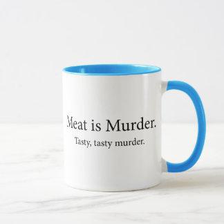Meat Is Murder Tasty Tasty Murder Mug