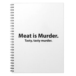 Meat is Murder. Tasty, tasty murder. Spiral Notebook