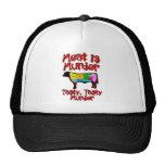 Meat is Murder. Tasty, Tasty Murder. Trucker Hat