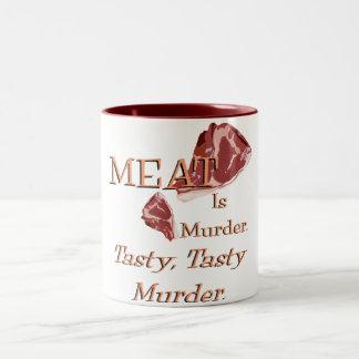 Meat Is Murder Two-Tone Coffee Mug