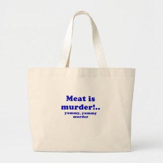 Meat is Murder Yummy Yummy Murder Tote Bag