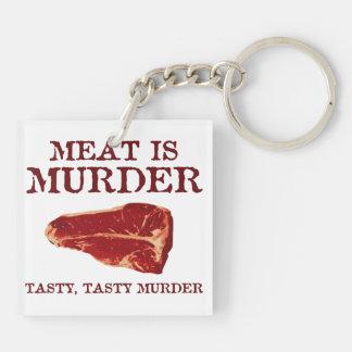 Meat is Tasty Murder Keychain