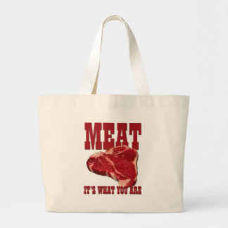Meat... It's What You Are Large Tote Bag