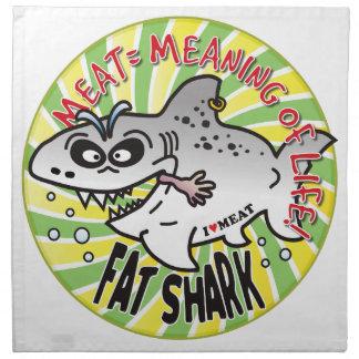 Meat Life Fat Shark Napkin