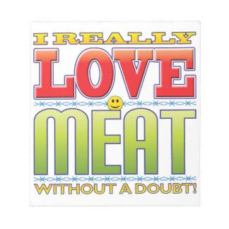 Meat Love Face Memo Pad
