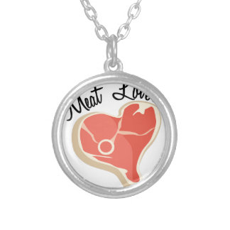 Meat Lover Round Pendant Necklace