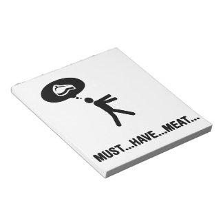 Meat lover memo pad