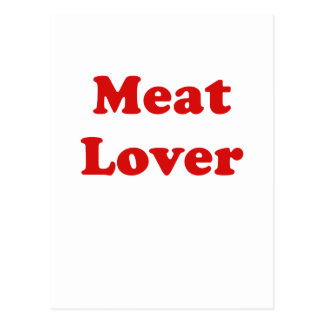 Meat Lover Postcard