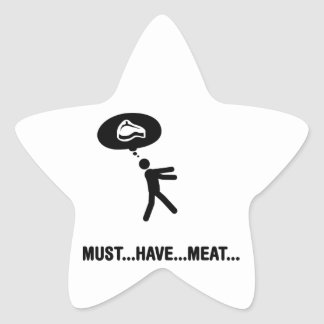 Meat lover star stickers