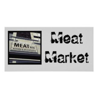 Meat Market Postcard