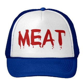 Meat Meaty I Love Meat Chicken Beef Goat Cow Blood Trucker Hat