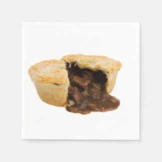 """Meat pie"" design paper napkins"
