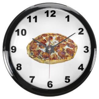 """""""Meat pizza """" design wall clock Aquavista Clock"""