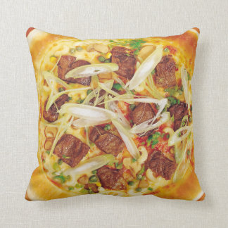 Meat Pizza Throw Pillow