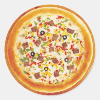Meat Pizza Round Sticker
