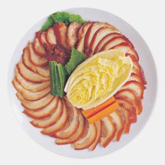 Meat Platter Classic Round Sticker