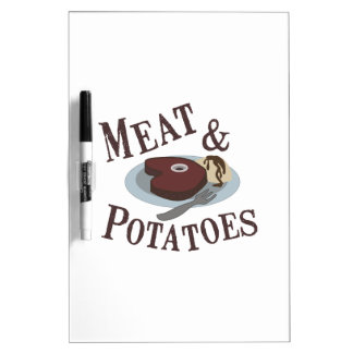 Meat & Potatoes Dry-Erase Whiteboards
