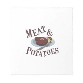 Meat & Potatoes Memo Note Pads