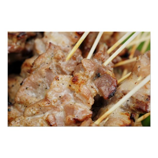 Meat prepared in thai tradition poster