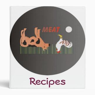 Meat Recipes Binder