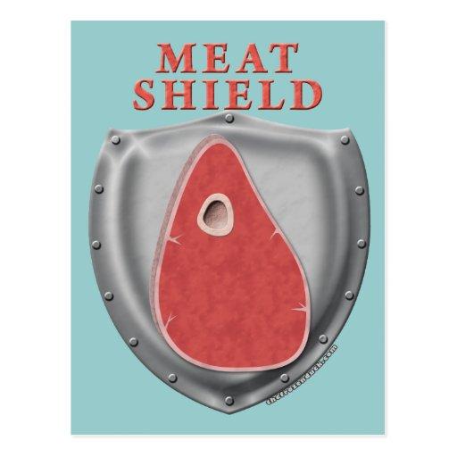 Meat Shield Postcard